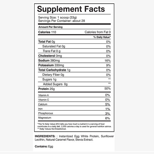Gaspari Nutrition Proven Egg Label